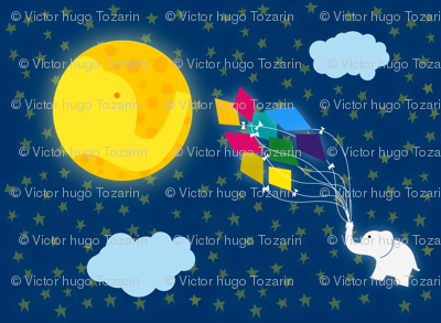 Moon Elephant Kite
