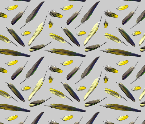 Colorful Conure Feathers fabric by rusticcorgi on Spoonflower - custom fabric