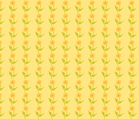 yellow flowers fabric by suziedesign on Spoonflower - custom fabric