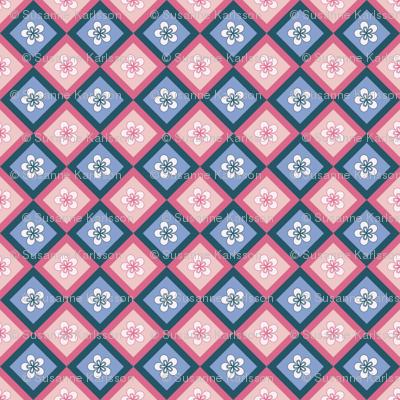 pink blue flower