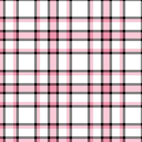 pink black plaid