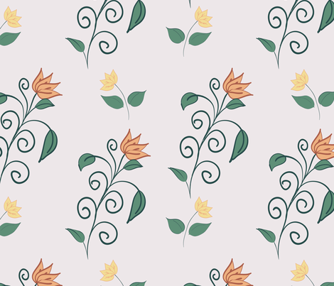 flower pattern fabric by suziedesign on Spoonflower - custom fabric
