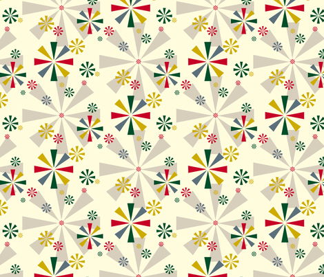 Circus Pinwheels (Christmas) fabric by pennycandy on Spoonflower - custom fabric