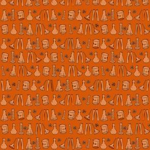 Orange Chemistry Lab Small