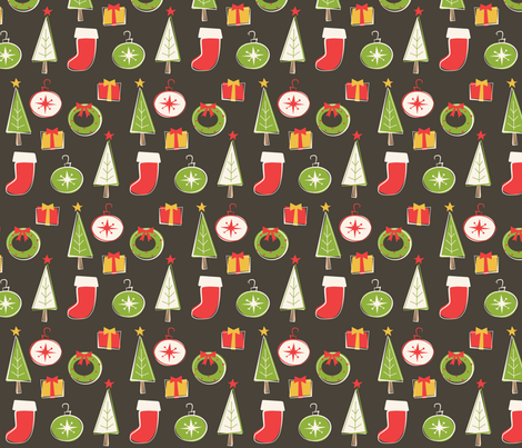 Traditional Xmas fabric by smires on Spoonflower - custom fabric