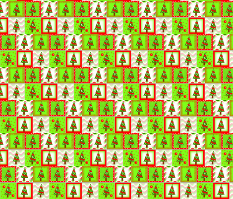 Christmas Trees fabric by bewilderness on Spoonflower - custom fabric