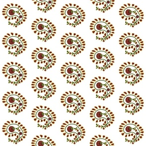 Just the paisleys -- on white