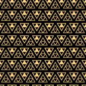 "Mittsu-Uroko ""Triforce"" Gold on Black"