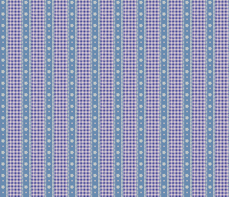 Lavender Gingham Stripes fabric by eppiepeppercorn on Spoonflower - custom fabric