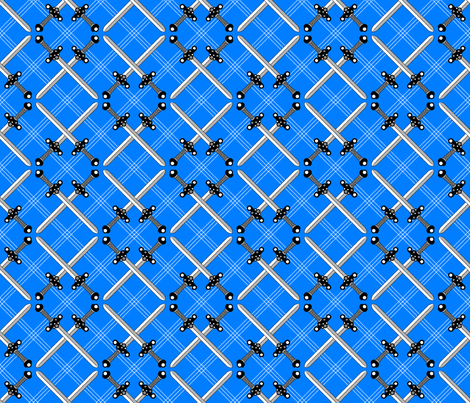 Heraldic Blossom Crossed Swords fabric by siya on Spoonflower - custom fabric