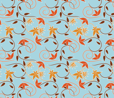 swirls fabric by suziedesign on Spoonflower - custom fabric
