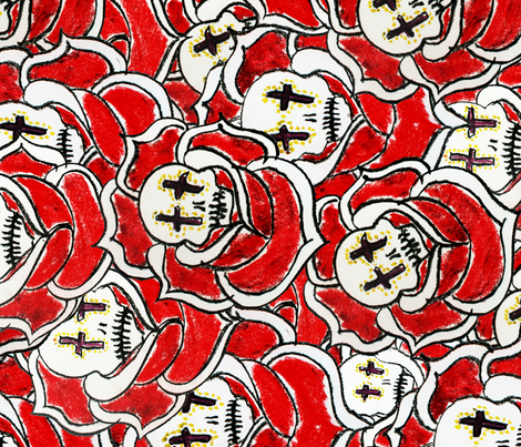 Rose of the Dead fabric by sunday_hoodoo on Spoonflower - custom fabric