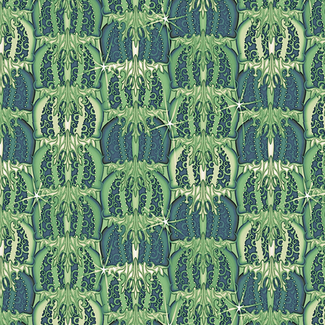 at_the_ball glorious green fabric by glimmericks on Spoonflower - custom fabric