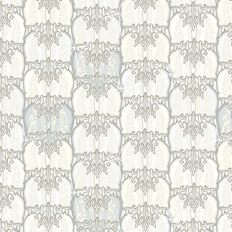at_the_ball ice princess fabric by glimmericks on Spoonflower - custom fabric