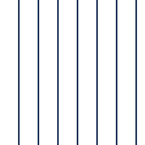 Navy pinstripe on white