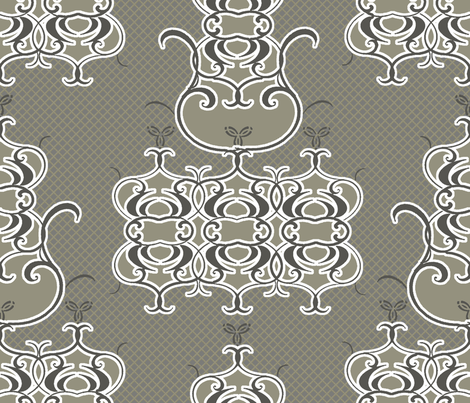 Patina Damask fabric by joanmclemore on Spoonflower - custom fabric