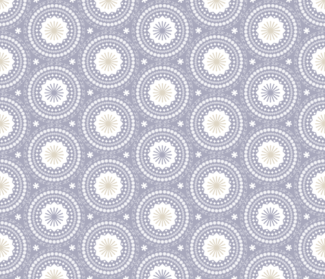 Ornamental Calendar Circles (Blue) fabric by pennycandy on Spoonflower - custom fabric