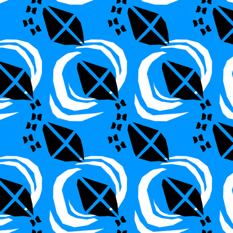 If Saul Bass made patterns on Spoonflower fabric by lusyspoon on Spoonflower - custom fabric