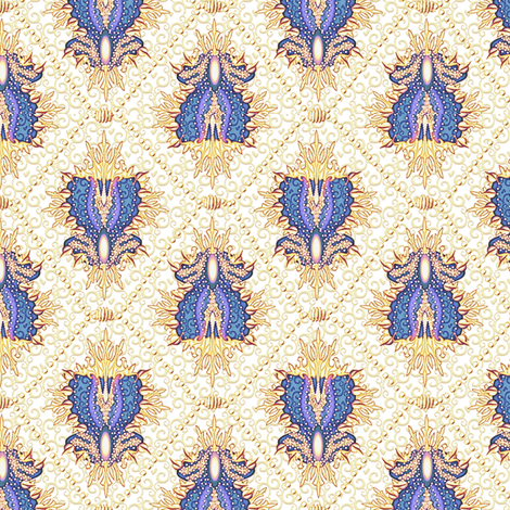 medallion and pearls -  royal gold fabric by glimmericks on Spoonflower - custom fabric