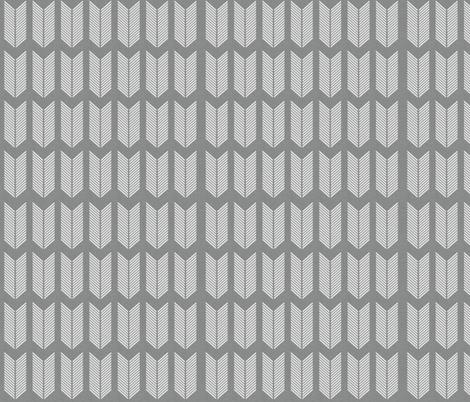 Gray Arrow  fabric by icarpediem on Spoonflower - custom fabric