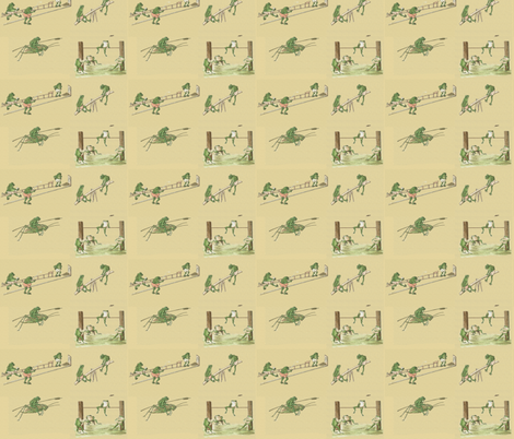 The Athletic Frog  fabric by icarpediem_ on Spoonflower - custom fabric