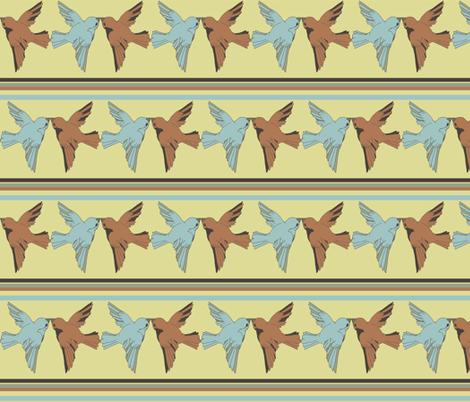 birdkiss fabric by luluhoo on Spoonflower - custom fabric