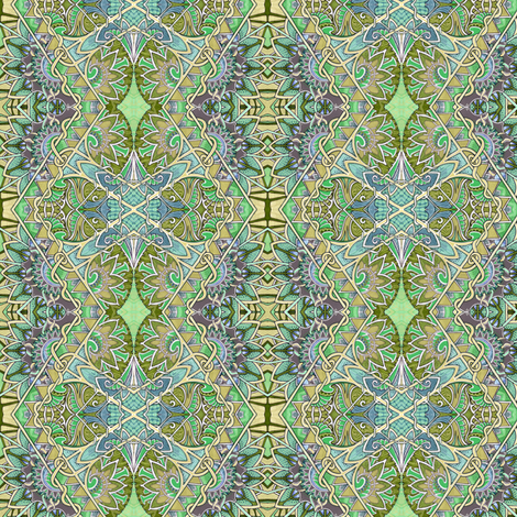 Mossy Morning vertical zig zag diamonds fabric by edsel2084 on Spoonflower - custom fabric