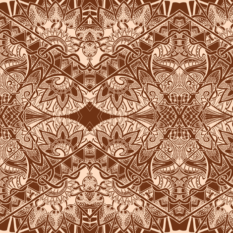 Make Mine Chocolate fabric by edsel2084 on Spoonflower - custom fabric