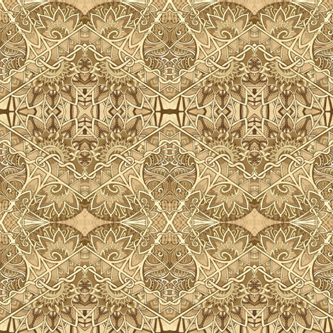 Sepia Tango Zig Zag Diamonds fabric by edsel2084 on Spoonflower - custom fabric