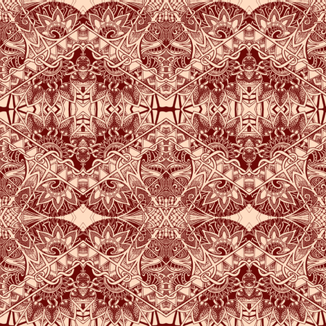 Peachy Keen Monochrome fabric by edsel2084 on Spoonflower - custom fabric