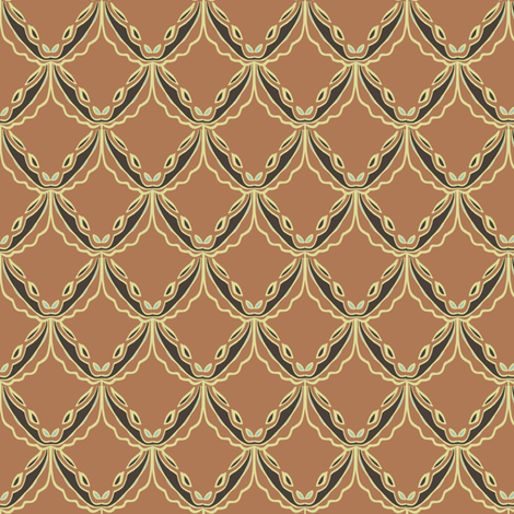 lacey orange fabric by luluhoo on Spoonflower - custom fabric