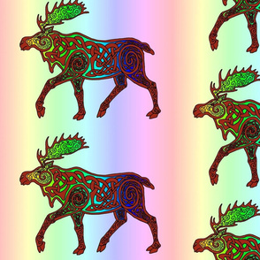 Celtic Rainbow Moose