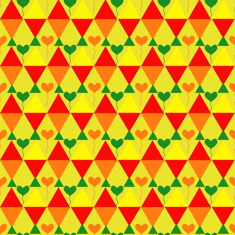 kites with heart fabric by raasma on Spoonflower - custom fabric