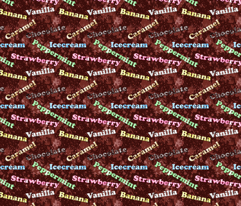 Sweets and Treats- Ice Cream Flavours fabric by mystikel on Spoonflower - custom fabric