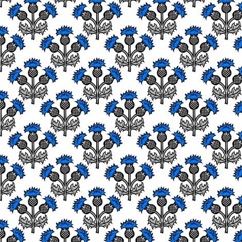 Heraldic Blossom Thistle fabric by siya on Spoonflower - custom fabric