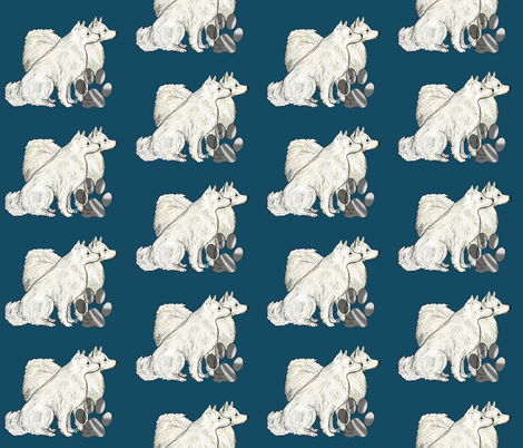 American Eskimmo dog fabric fabric by dogdaze_ on Spoonflower - custom fabric