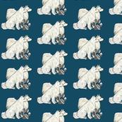 American Eskimmo dog fabric