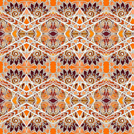 Zig Zag Orange Diamond Express fabric by edsel2084 on Spoonflower - custom fabric