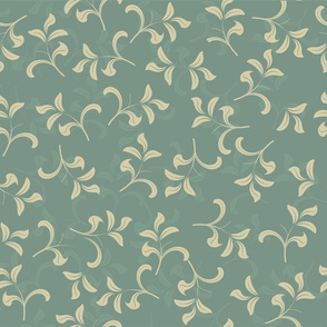blue vintage leave pattern