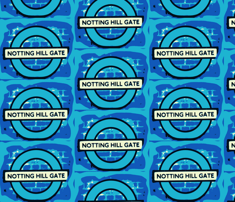 Notting Hill - blue fabric by bettinablue_designs on Spoonflower - custom fabric
