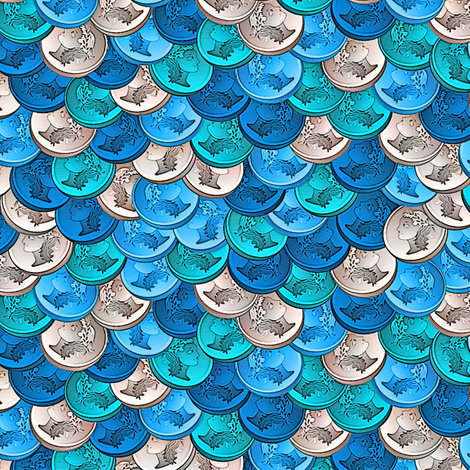 coins caribbean fabric by glimmericks on Spoonflower - custom fabric