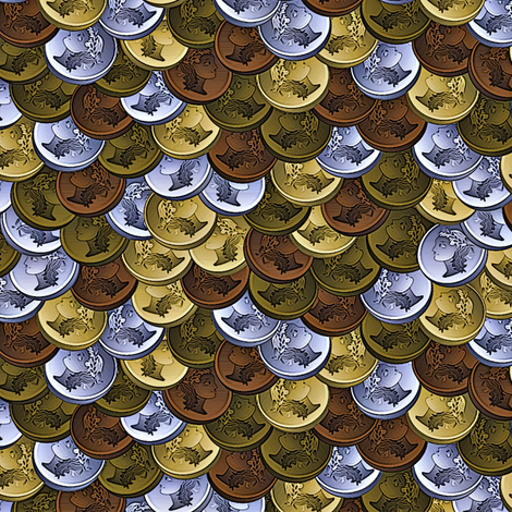 coins camo fabric by glimmericks on Spoonflower - custom fabric