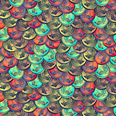 coins calypso fabric by glimmericks on Spoonflower - custom fabric