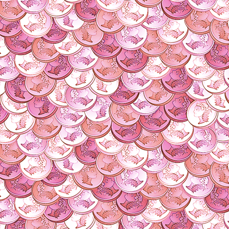 coins peppermint fabric by glimmericks on Spoonflower - custom fabric