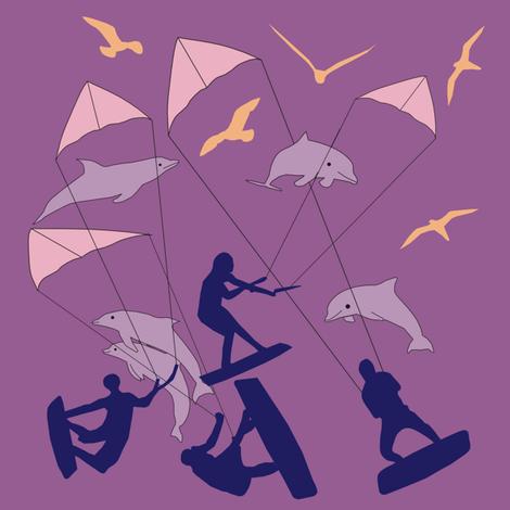 Kites fabric by alexsan on Spoonflower - custom fabric