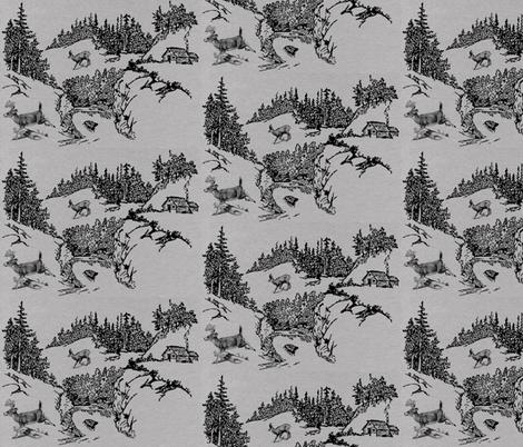 Woodland Toile  fabric by icarpediem on Spoonflower - custom fabric