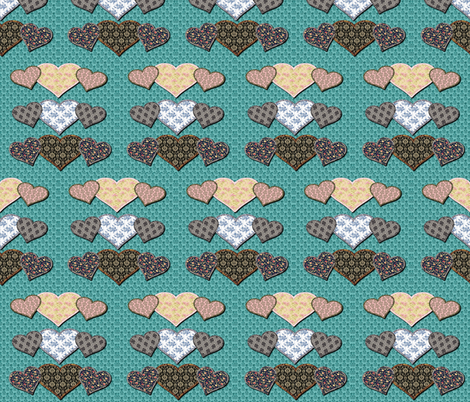Vintage Hearts  fabric by icarpediem_ on Spoonflower - custom fabric