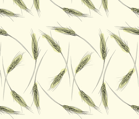 Wheat (gold) fabric by phillip_markel on Spoonflower - custom fabric