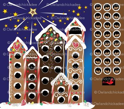 Gingerbird Holiday Calendar - Fat Quarter