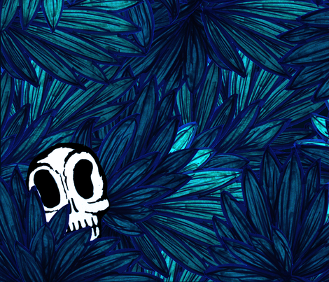 Jungle Blues fabric by sunday_hoodoo on Spoonflower - custom fabric